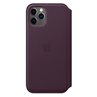 APPLE iPhone 11 Pro Le Folio Aubergine Leather