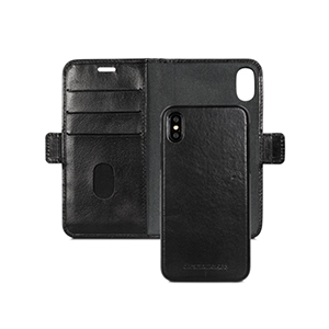 DBRAMANTE1928 Lynge iPhone X Wallet Leather Black