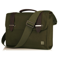 KNOMO Padstow 13i Satchel Briefcase - Olive Green