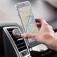 SATECHI Vent Mount for Smartphone/Car Magnet Silver